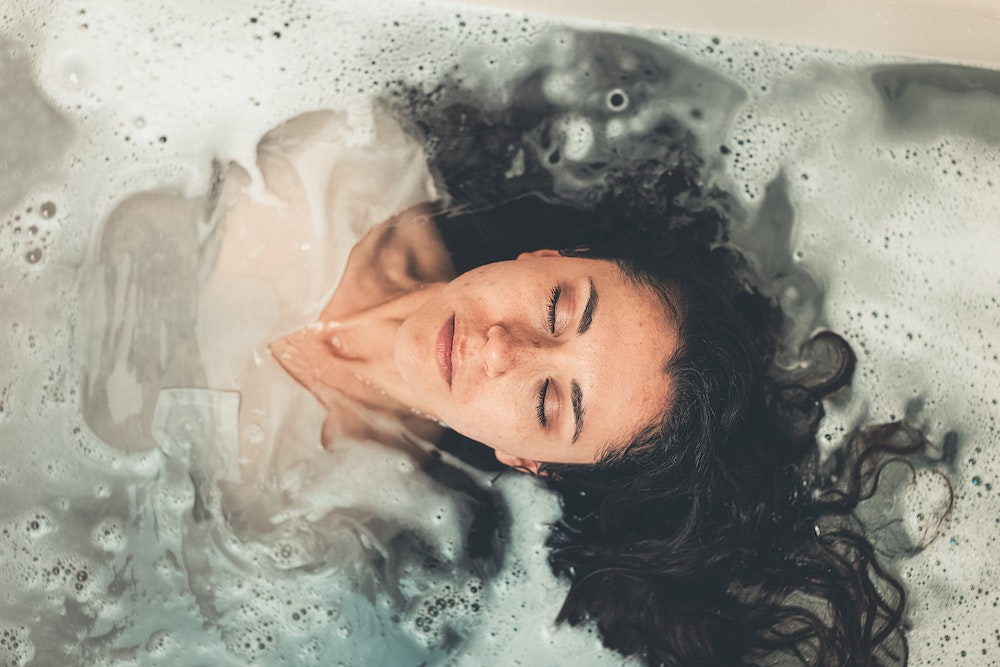 sleeping in bath