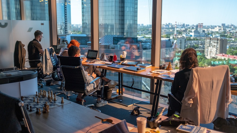 hybrid office workers