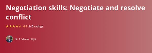 Negotiation Skills & Conflict Resolution
