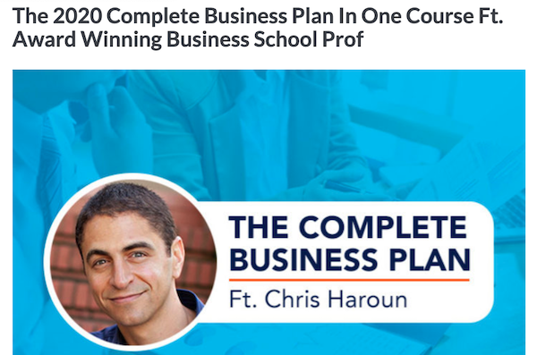 The 2020 Complete Business Plan in One Course