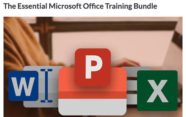 The Essential Microsoft Office Training Bundle